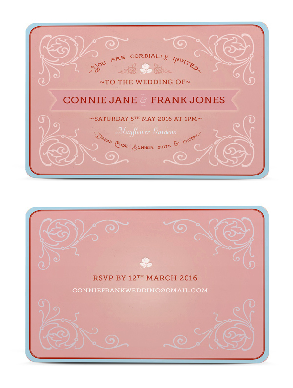 How to create a vintage wedding invitation in adobe indesign if youre looking to add special technical details to your invitation such as a die line embossing or foil metallic effects its usually a good idea to stopboris Image collections