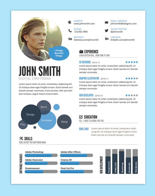9 creative resume design tips with template examples - Top Resume Formats