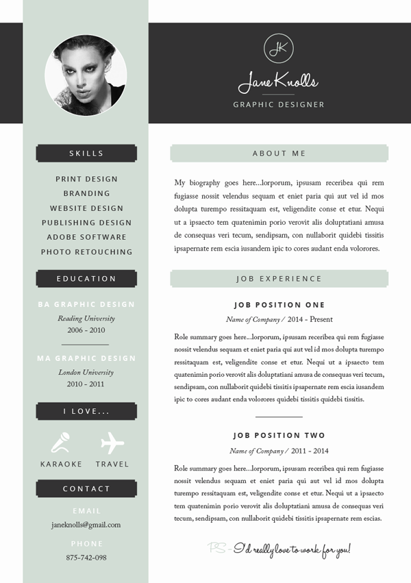 resume template - Creative Resume