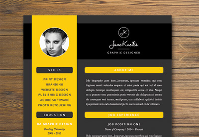 Design U0026 Illustration   Envato Tuts+  Creative Resume