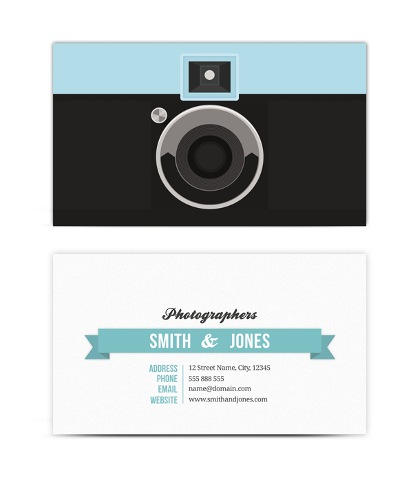 photographer unique business card
