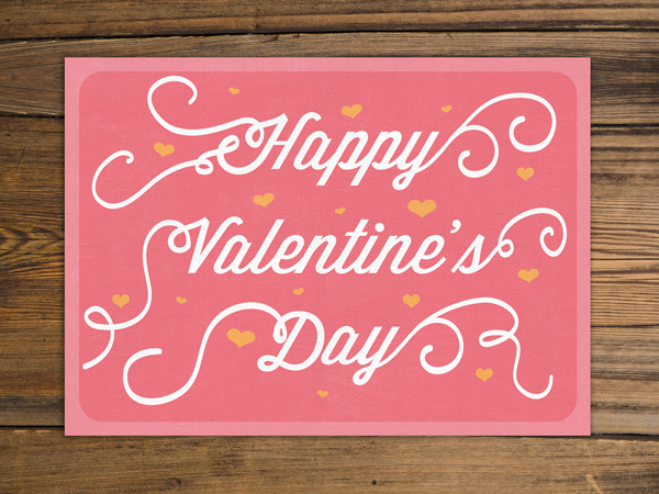 pink vintage valentines