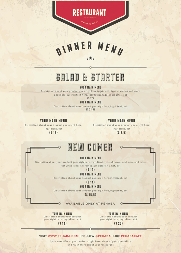 10 design tips for creating mouth watering menus