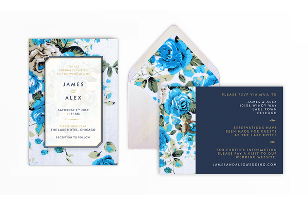 how to create a floral wedding invitation and matching envelope