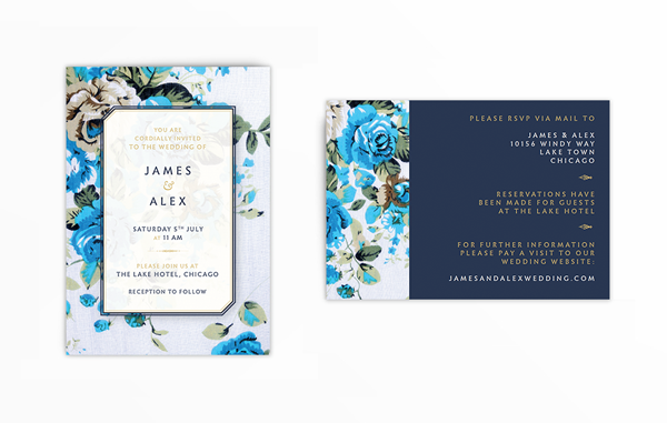 front and reverse of invite