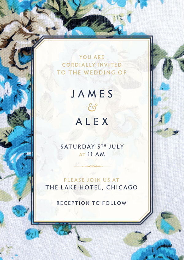 How to create a floral wedding invitation and matching envelope final front stopboris Choice Image