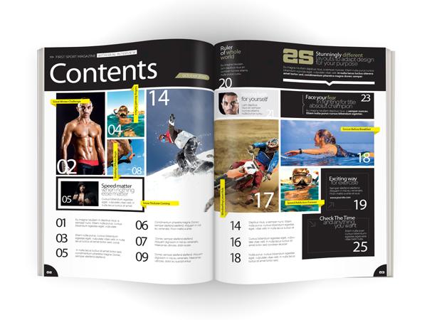 Sports Magazine Contents