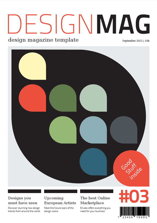 design magazine cover