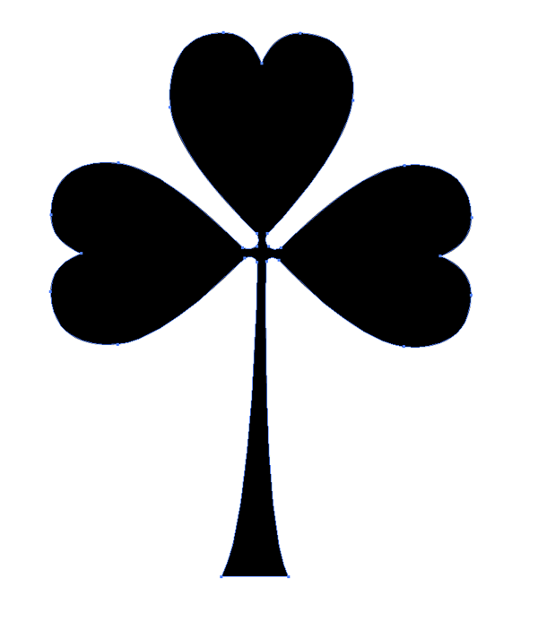 how to draw a shamrock in illustrator