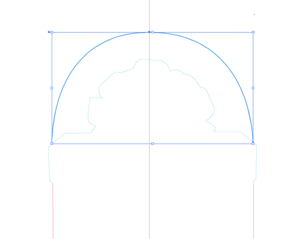 curved dieline
