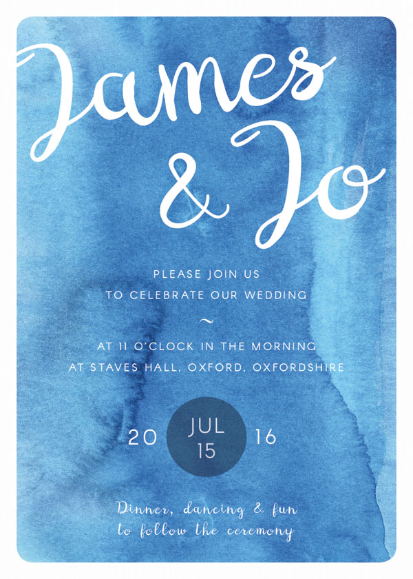 How to create a watercolor wedding invitation in adobe indesign character panel final invite front stopboris Choice Image