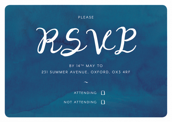 final rsvp card