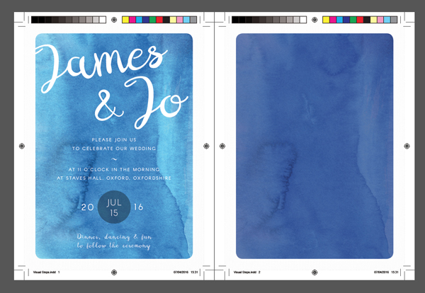 How to create a watercolor wedding invitation in adobe indesign exported invite exported rsvp card stopboris Gallery
