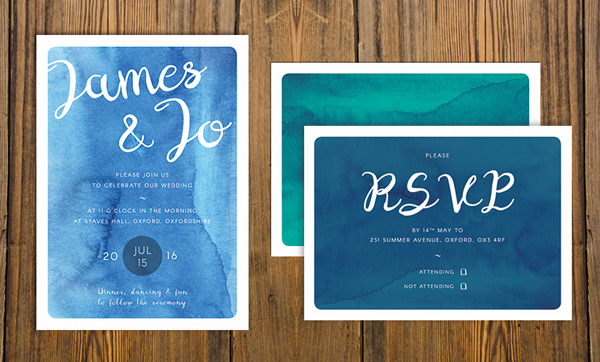 how to create a watercolor wedding invitation in adobe indesign, Invitation templates