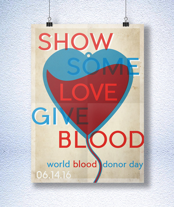How to Create a Vintage Style Poster for World Blood Donor Day in Adobe InDesign