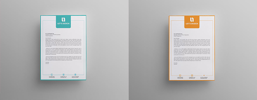 bordered letterhead template
