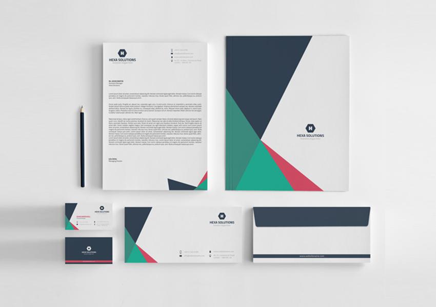 geometric letterhead