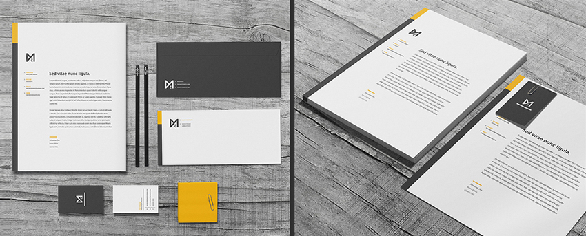 yellow letterhead - Letterhead Design Ideas