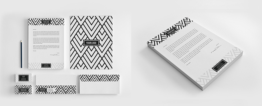 patterned letterhead