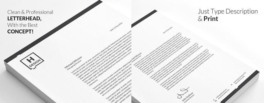simple letterhead