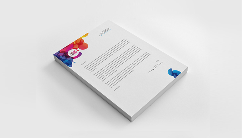 colorful letterhead - Letterhead Design Ideas