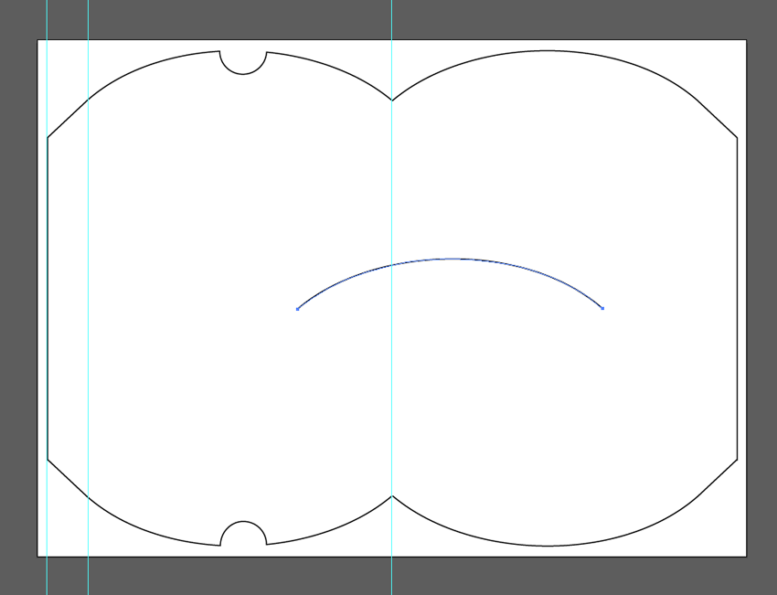 Curved Line Indesign : How to create a die cut pillow box in adobe indesign