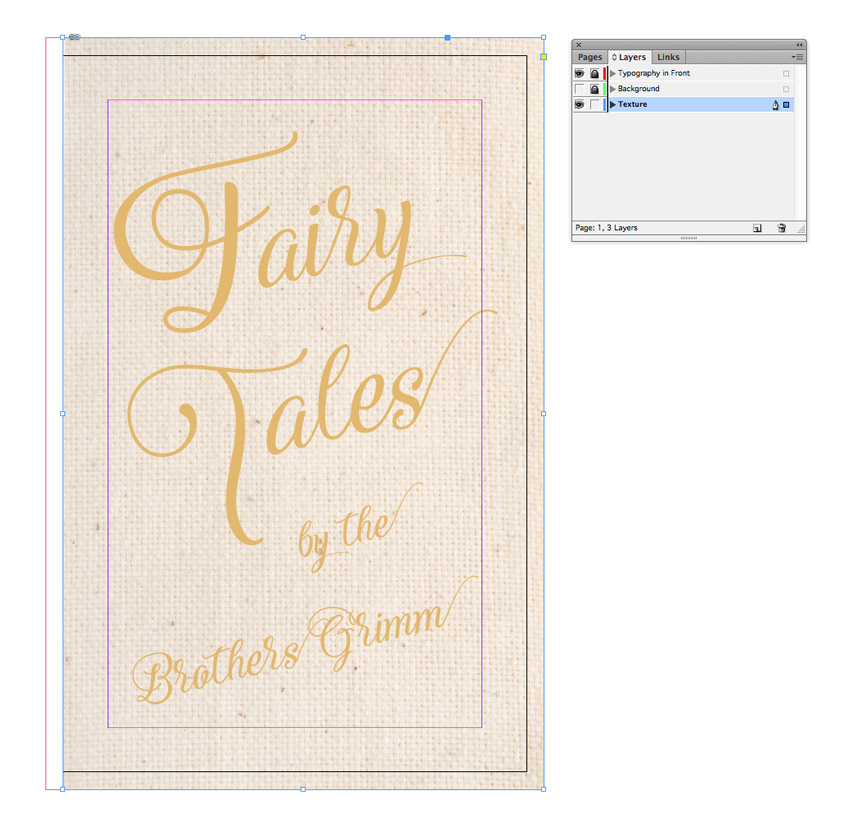 fairy tale book cover canvas texture