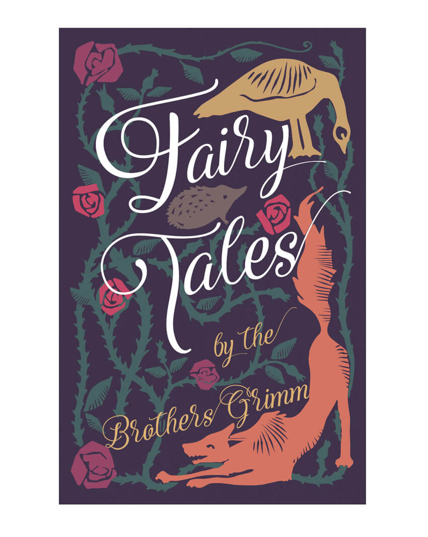front fairy tale antique book cover design