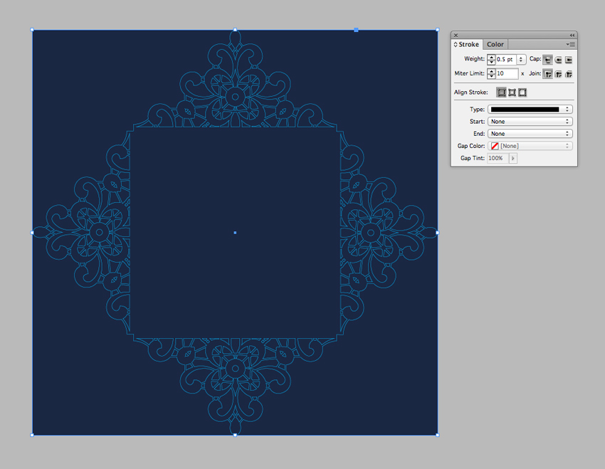 How to create a laser cut wedding invitation in illustrator and indesign in the pages panel drag the page 1 icon down onto the create new page button to create a duplicate of the page page 1 will be the front of your invitation stopboris Choice Image
