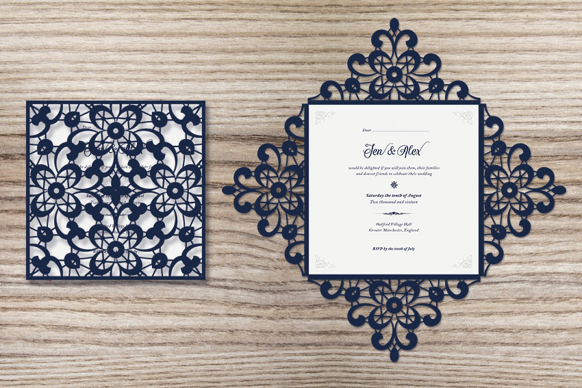how to create a laser-cut wedding invitation in illustrator and, Invitation templates