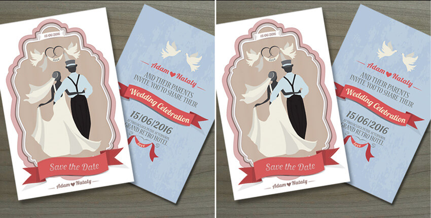 illustrated invites