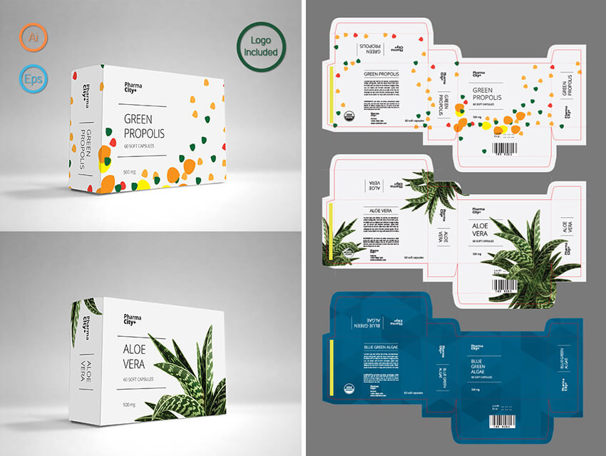 60 time saving print templates for adobe indesign photoshop for Adobe illustrator packaging templates