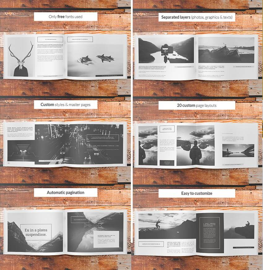 60 Time Saving Print Templates For Adobe Indesign Photoshop