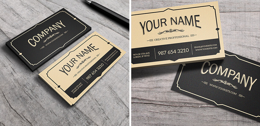 60 time saving print templates for adobe indesign photoshop vintage business card template wajeb Choice Image
