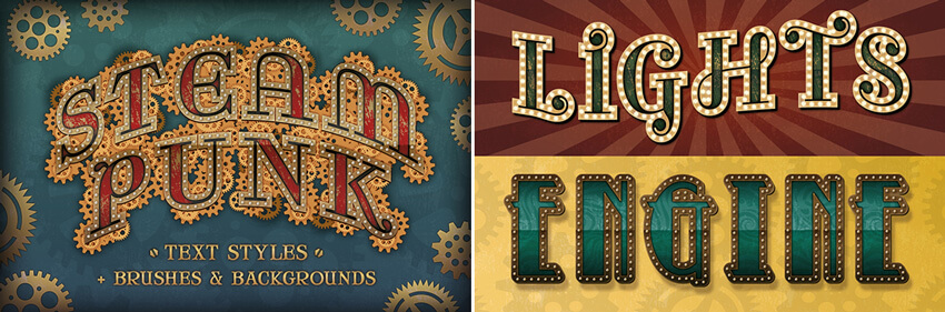 steampunk fonts