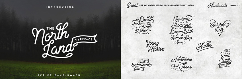 north land font  How to Design a New Brand Identity for Your Business 6