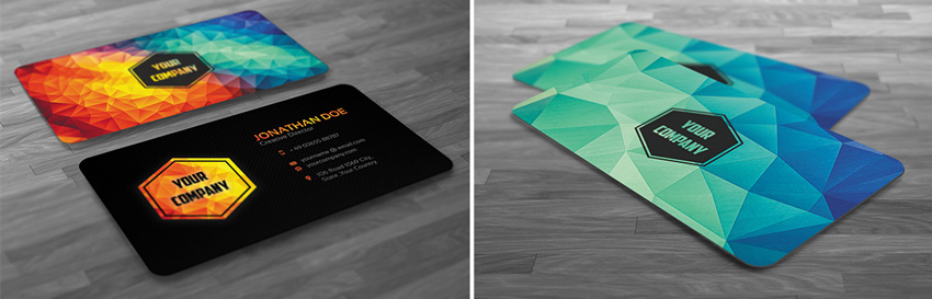 polygon business card  How to Design a New Brand Identity for Your Business 8