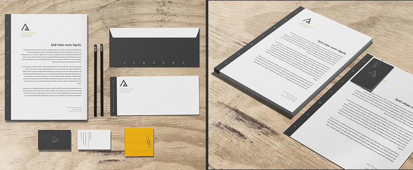 triad stationery  How to Design a New Brand Identity for Your Business 8