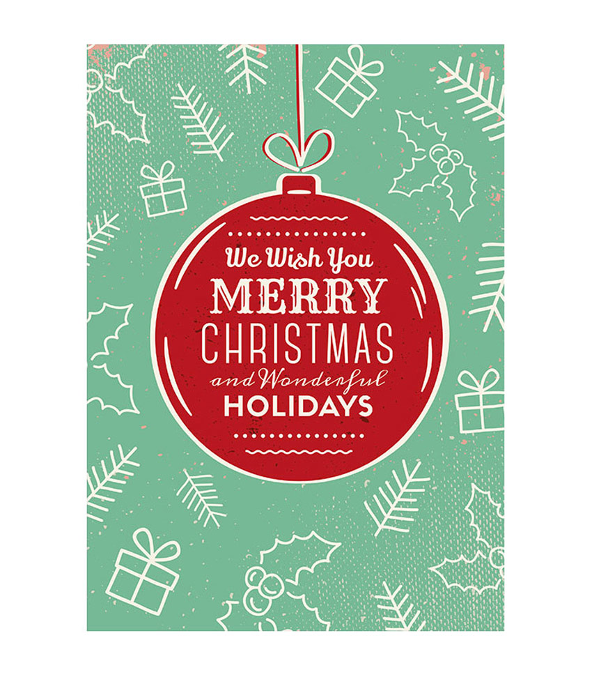 Stylish Festive Christmas Greetings Card Templates - Christmas greeting card template