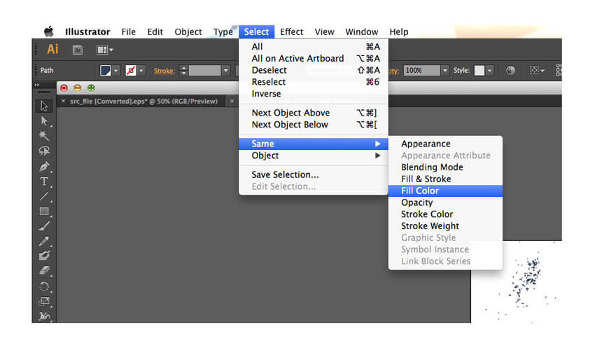 fill color select