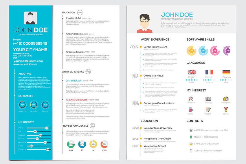 flat design resume