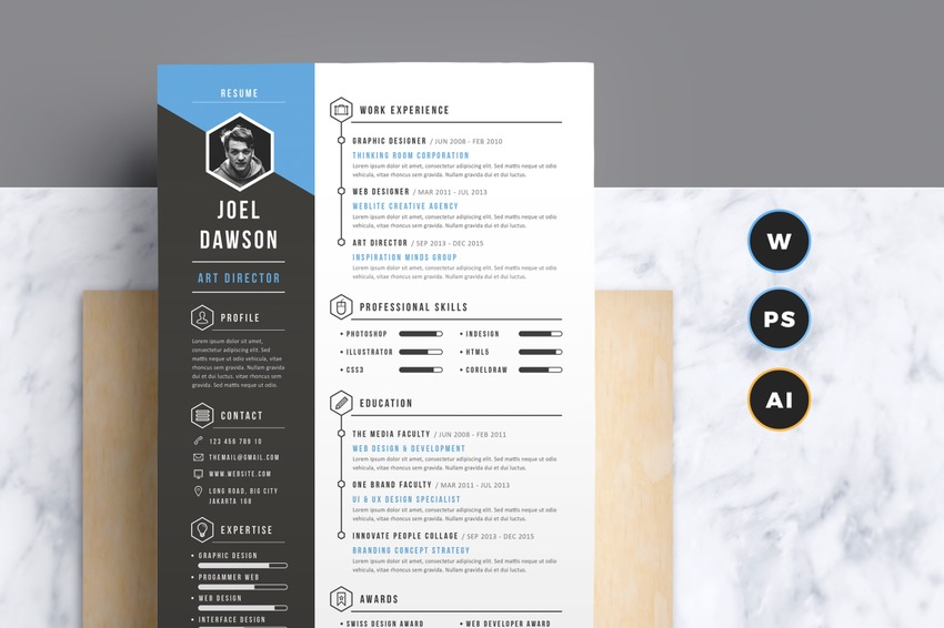 active words for resumes%0A Modern Gray Resume Template Make your resume pop with this sleek and modern  template