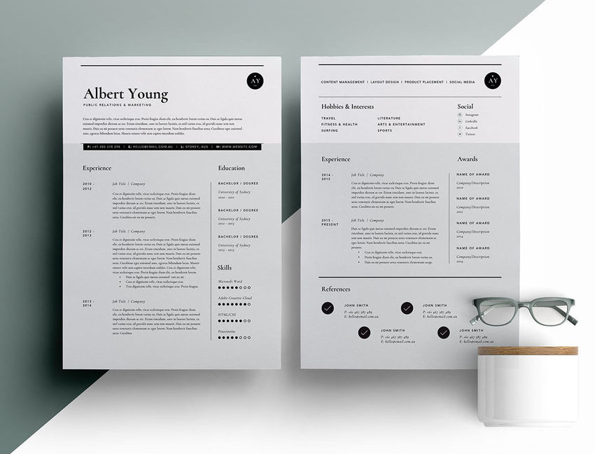 Typographic Typographic CV Template  Unique Resume Templates