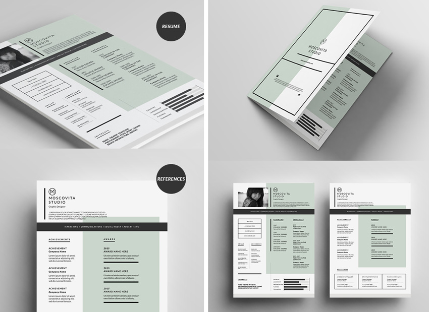 grid resume template