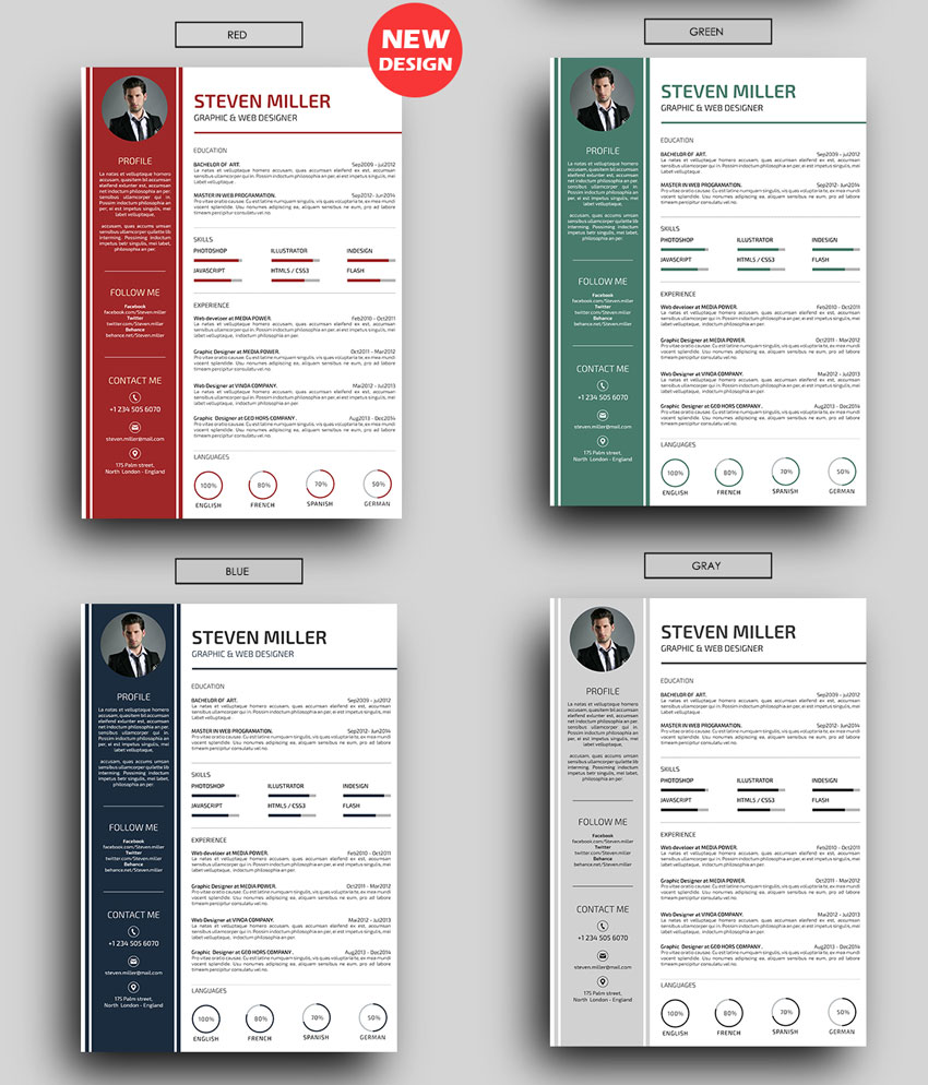 50+ Professional Resume & CV Templates