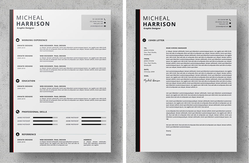 striped resume