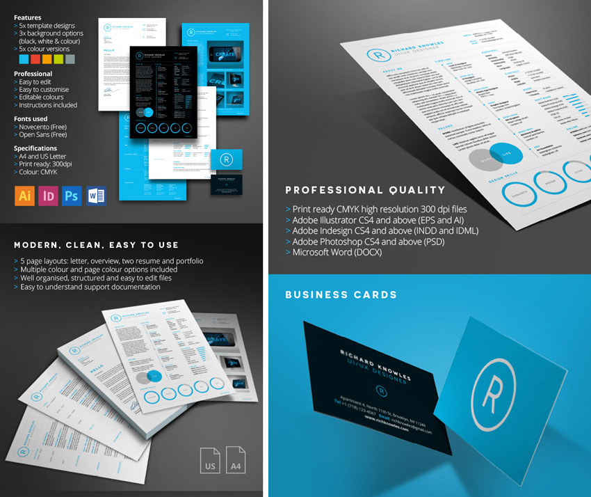 50 Professional Resume Cv Templates