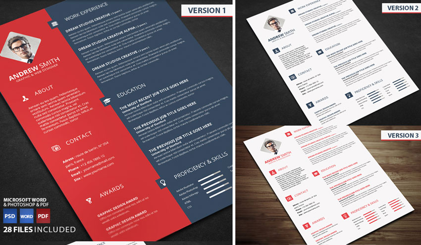 red navy resume