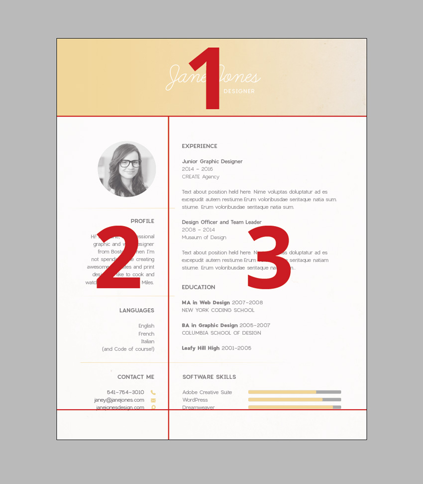 how to create a resume i m not saying this is the only grid layout that works for resumes explore other great resume designs online and you ll other variations on a grid