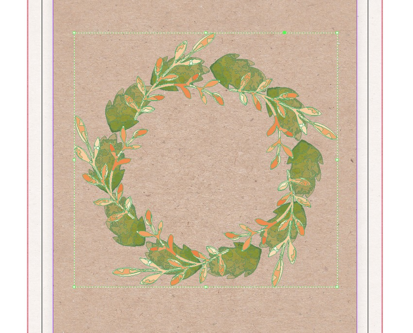 pasted wreath